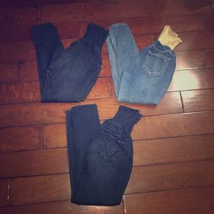 Denim - Maternity skinny leg jean bundle